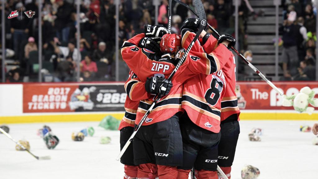 Calgary Hitmen Host Moose Jaw Sunday In Teddy Bear Toss Game Whl