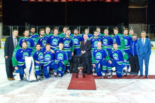 The 2017-18 Eastern Conference Champion Swift Current Broncos.