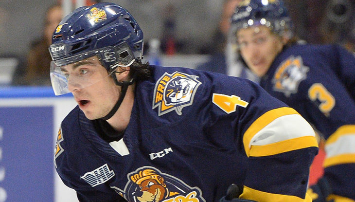 Jamie Drysdale of the Erie Otters. Photo by Terry Wilson / OHL I